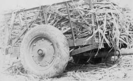 Cane cars etc., pressed steel, sugarcane-loaded cart wheel