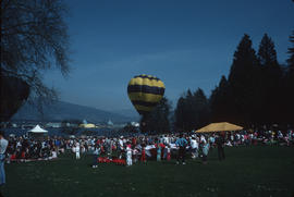 Hot air balloon in Stanley Park