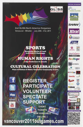 2nd GLISA North America Outgames : Vancouver [and] Whistler : July 25th - 31st, 2011