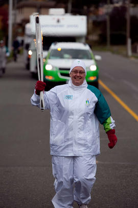 Day 004, torchbearer no. 091, Bobbi Howard-Muir - Comox