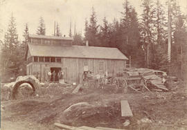 [Exterior of Columbia Brewery at Cedar Cove - north side of Powell Street at Wall Street and Vict...