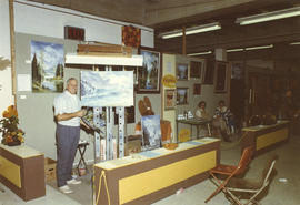 W. Alexander display of art, 1971 P.N.E. World of Art show
