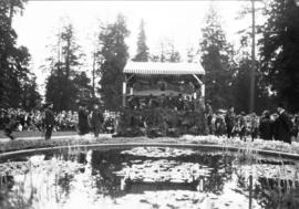 Lord Byng's farewell visit [in Stanley Park receiving cadets and scouts]