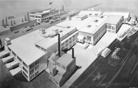 [Artist's rendering of the Westminster Paper Company plant]