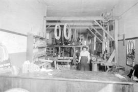 [Interior of Nye's Automobile and Tire Repair shop - 2228 Cambie Street]