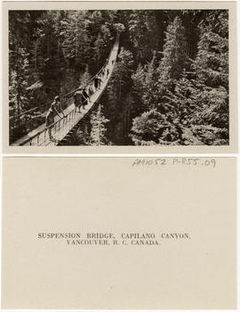 Suspension Bridge, Capilano Canyon, Vancouver, B.C. Canada