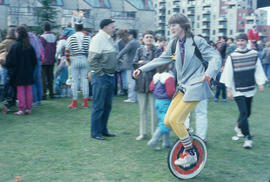 Unicyclist at Fool's Day Parade