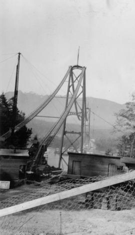 1st Narrows Bridge construction