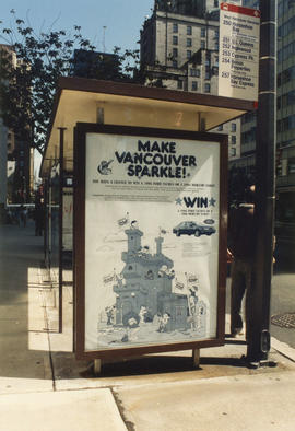 Make Vancouver Sparkle bus stop advertisement