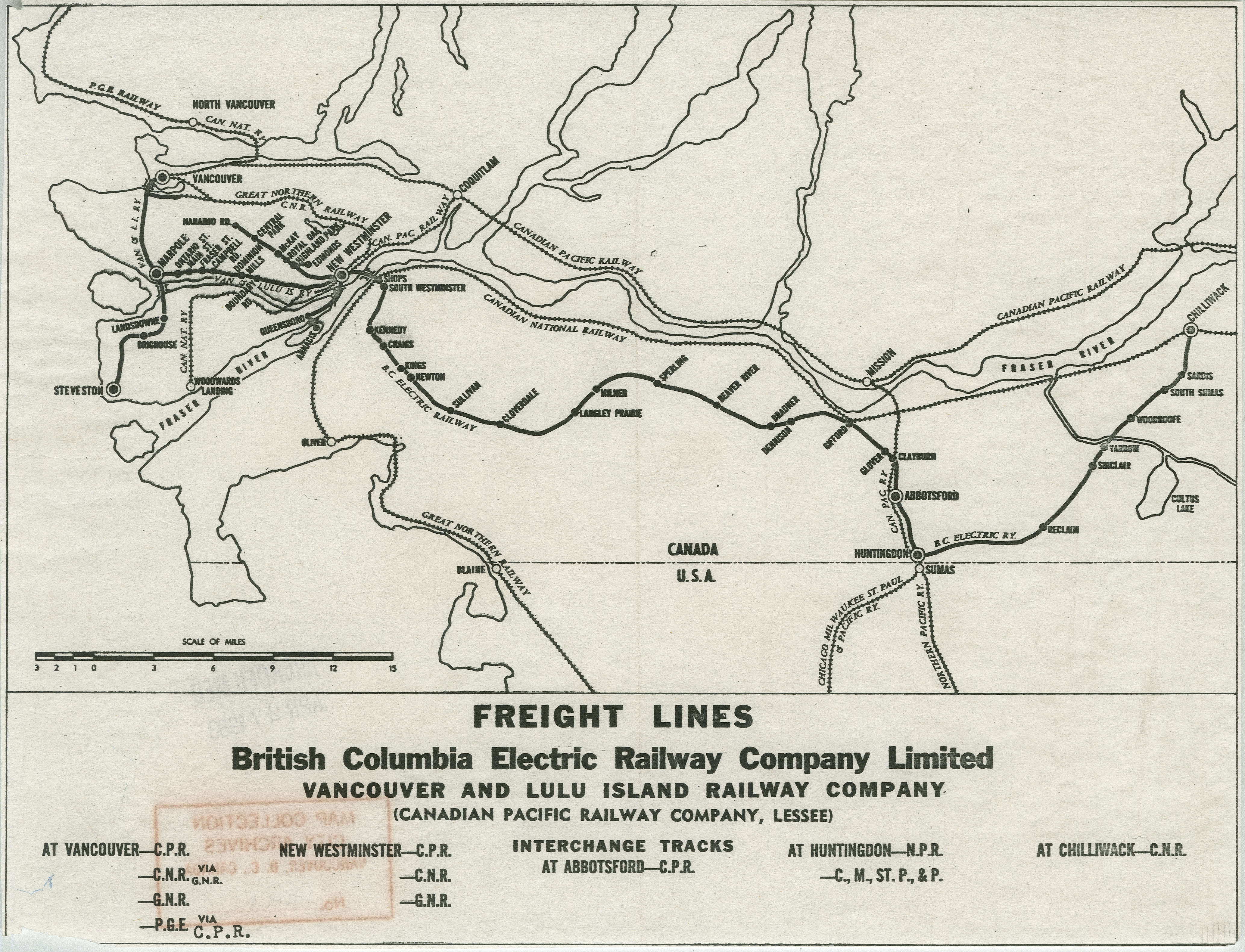 freight lines british columbia electric railway pany limited