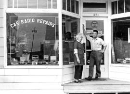 Radio repair shop, Moncton Street