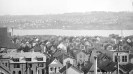 [View of downtown, Mount Pleasant, and Fairview from Hotel Vancouver]