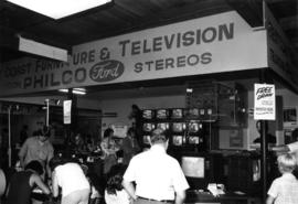 West Coast Furniture and Television display of Philco-Ford brand televisions and stereos