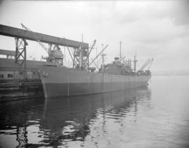 "[The cargo ship ""Paul David Jones"" at dock]"