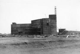 [Job no. 787 : photograph of Lethbridge Municipal Hospital construction site] : from north west