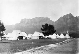No. 3 General Hospital, Rondebosch, near Capetown, Table Mountain in the background