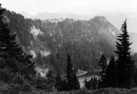 Goat Lake with White Mountain in Distance