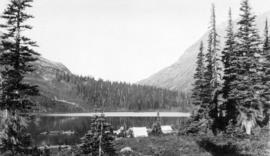 A camp at Tenquille Lake