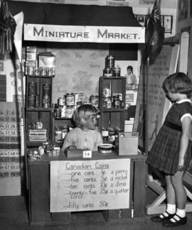 Minature market at Southlands [elementary] school