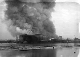 Fire [at J. Coughlan & Sons Ltd. shipyards at the foot of Columbia Street on False Creek]