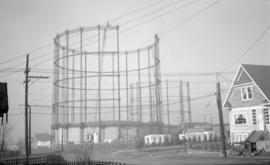 BCER [British Columbia Electric Railway] Gas Tanks [under construction-E. Third Ave. and Woodland...