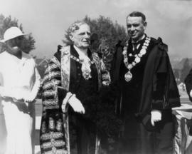 Sir Percy, Mayor McGeer, and Mrs. McGeer