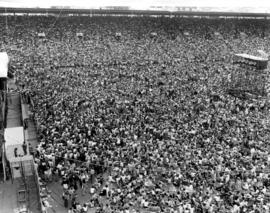 Large crowd in Empire Stadium for outdoor concert