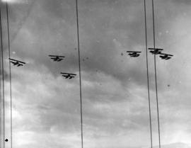 [A flypast during visit of King George VI and Queen Elizabeth]