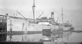 "[S.S. ""Ayaha Maru"" at dock]"