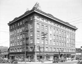 [Alcazar Hotel at the northeast corner of Dunsmuir and Homer Streets]