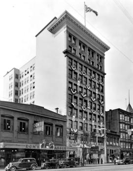 [Exterior of the Holden Building (temporary City Hall) - 16 E. Hastings Street]