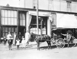 [Exterior of the Scotch Bakery - 159 East Hastings Street]