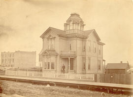 [Exterior of the Lacey R. Johnson residence - 455 Seymour St.]