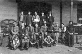 [Group portrait of B.C. Bedding and Upholstery Co. (1043 West Pender Street) employees]