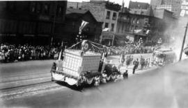[The Hudsons Bay Company float in the Dominion Day Parade]