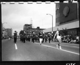 Marching band in 1959 P.N.E. Opening Day Parade