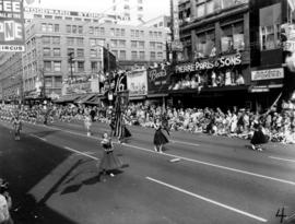 Ferndale High School marching band in 1955 P.N.E. Opening Day Parade