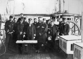 "Admiral Hastings and Group of Officers on board ""Sparrowhawk"""