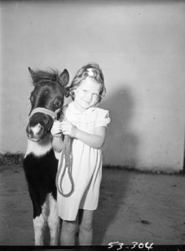 Young girl posing with pony