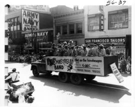P.N.E. Minstrel Band performing in 1956 P.N.E. Opening Day Parade