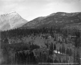 Cascade and tunnel mountains, from Banff Springs Hotel, Banff, Alta.