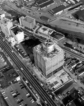 [Aerial view of the Westcoast Building construction site - 1333 West Georgia Street]
