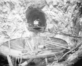 [Men constructing hydraulic tunnel for Buntzen Lake Power Plant number two]