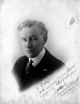 "[Signed portrait of fellow actor Broderick O'Farrell ""To Daisy""]"