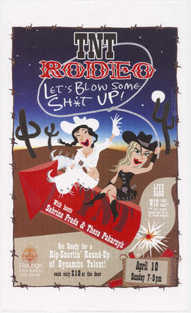 TNT rodeo with hosts Sabrina Prada and Thesa Pakarnyk : April 10 : J Lounge, 1216 Bute St.