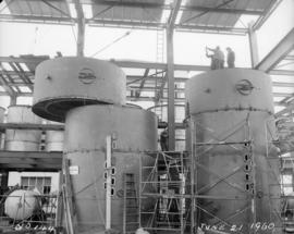 Construction of pan house: installation of tanks