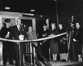 [Mayor Fred Hume speaking at official opening of Public Safety Building, 312 Main Street]