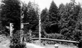 Totern poles and Indian relics [in Stanley Park]