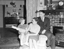 Georgina Brooksbank and family in their living room