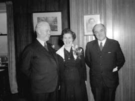 [Mayor Telford, Miss M.F. McNeil, and Major J.S. Matthews in the Mayor's office]